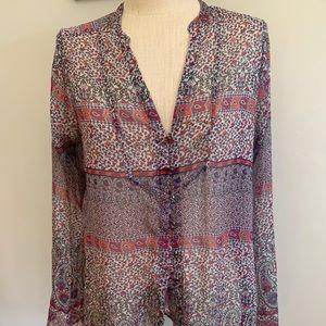 Converse Long Sleeve Sheer Boho Kimono